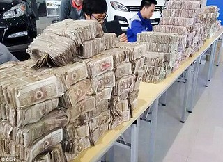 Chinese banknote stash buys car