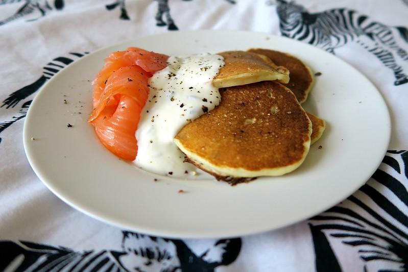 uk scottish lifestyle blogger healthy brunch recipe potato pancakes smoked salmon