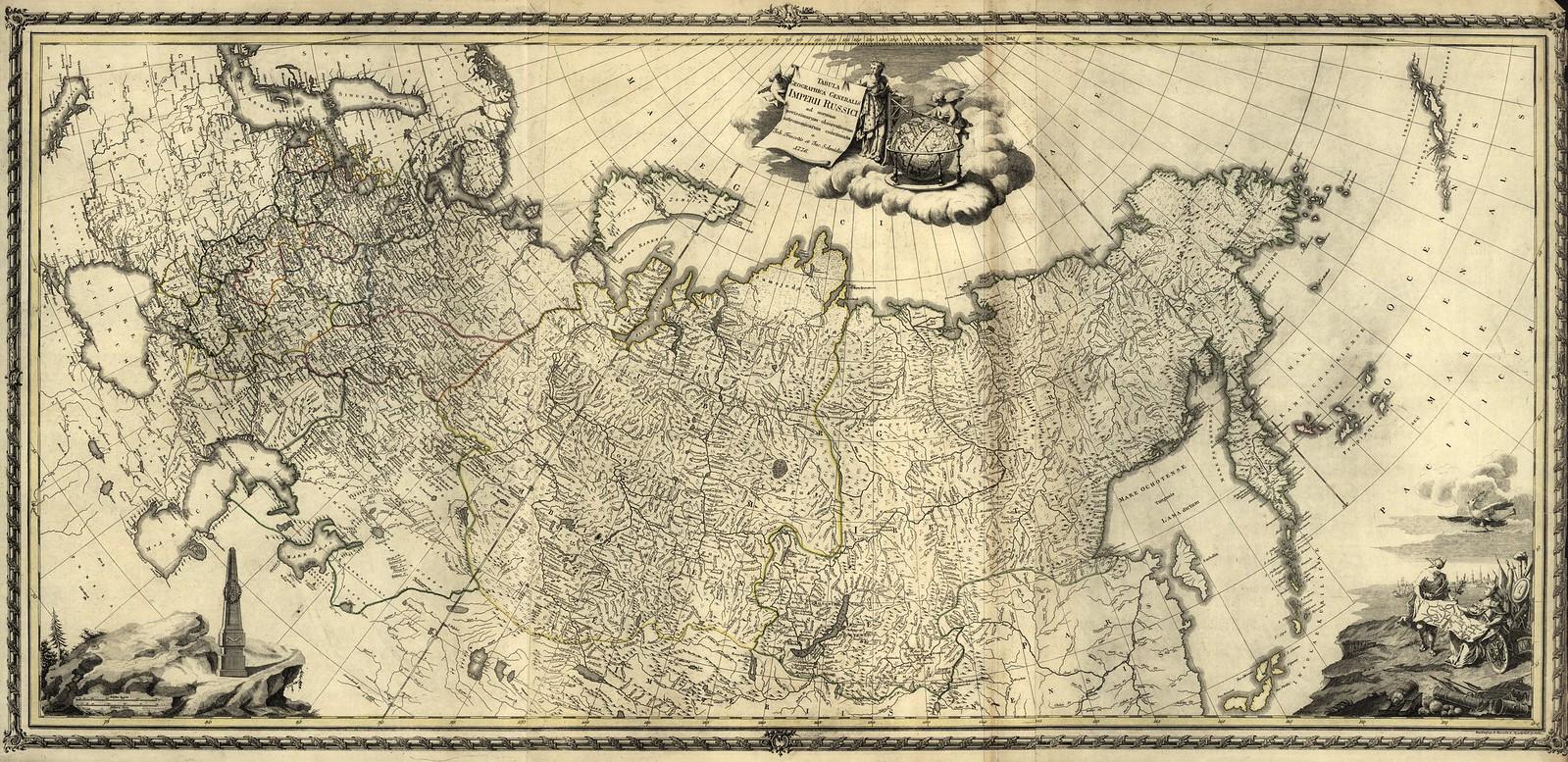 1716_Tabula geographica generalis Imperii Russici ad normam novissimarum observationum astronomicarum concinnata