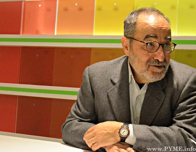Víctor Salvador (Chez Víctor) durante la entrevista en el Centro de Innovación Gastronómica 'Casa de la Tierra'.