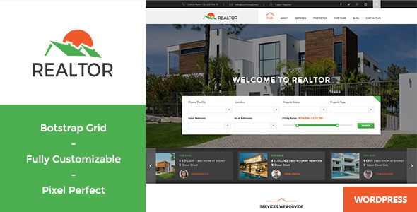 Realtor v1.2.9 - Responsive Real Estate WordPress Theme