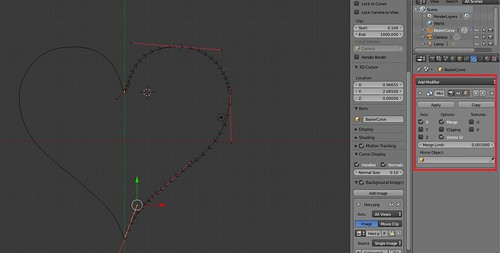 Modeling a Heart - Bezier Curve - Mirror