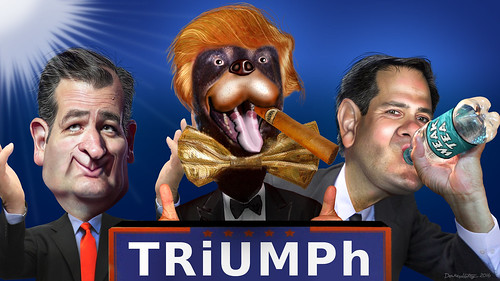 GOP Top Three Before New Hampshire - Cruz Trump, and Rubio