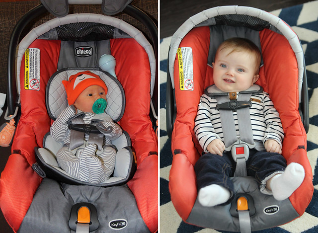 First and last time in the infant seat