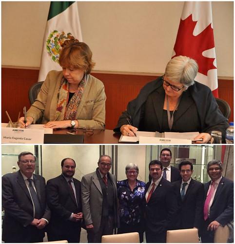 Se firma acuerdo para la creación de la Cátedra México en la Universidad de Calgary