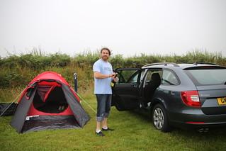 Pitton's Cross campground in Rhossili