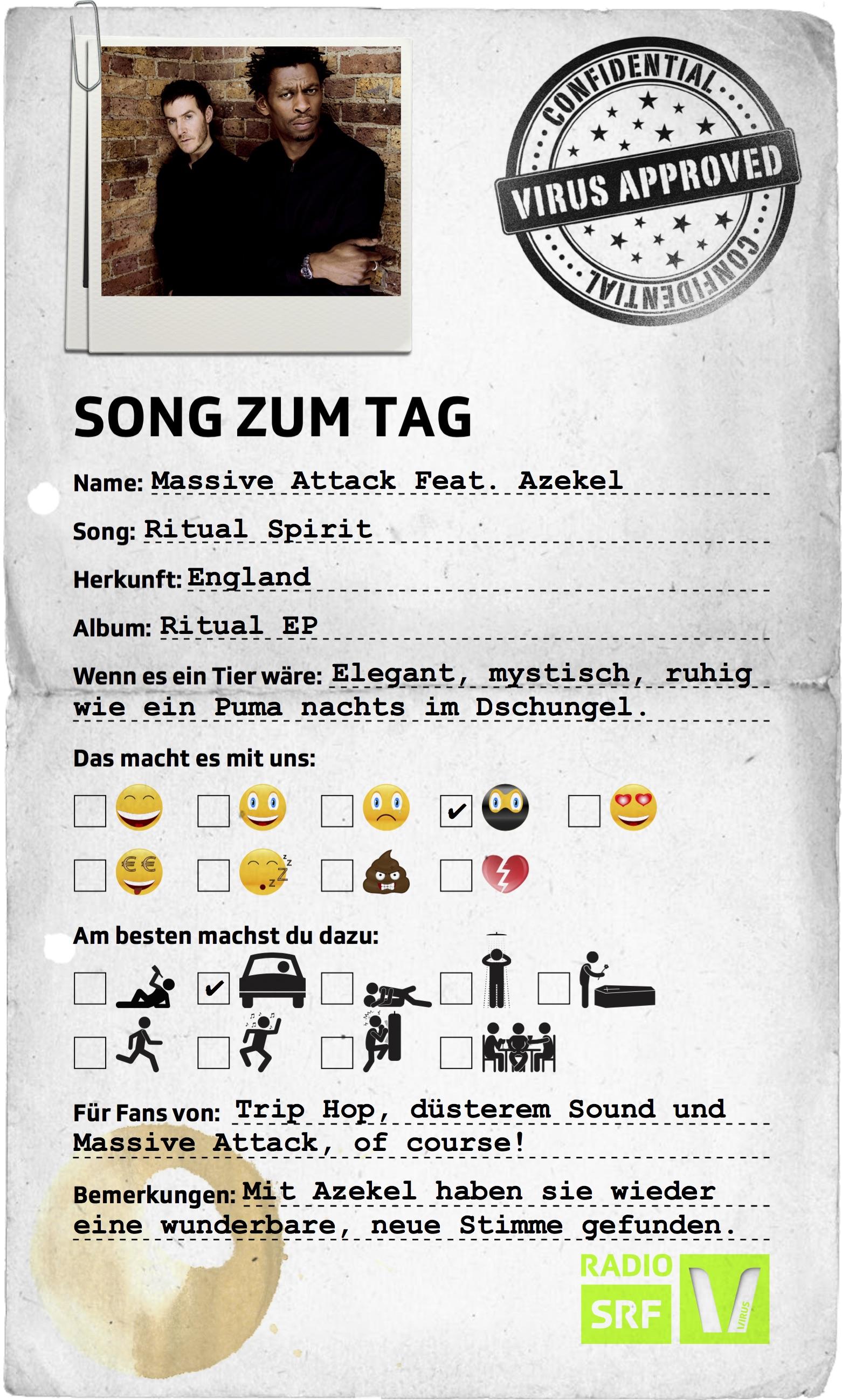 """SzT_Massive Attack Feat. Azekel _Ritual Spirit Kopie""""></div></div></div><p>Alle Tracks, die wir neu spielen, findest du in unserer <a href="""