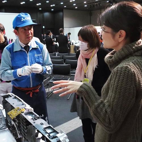 直接いろいろお話を伺いつつ、こういうイベントは良いよね。開発の苦労とか、工夫とか、いろんなエピソードが聞けるから。 #三菱電機 #霧ヶ峰