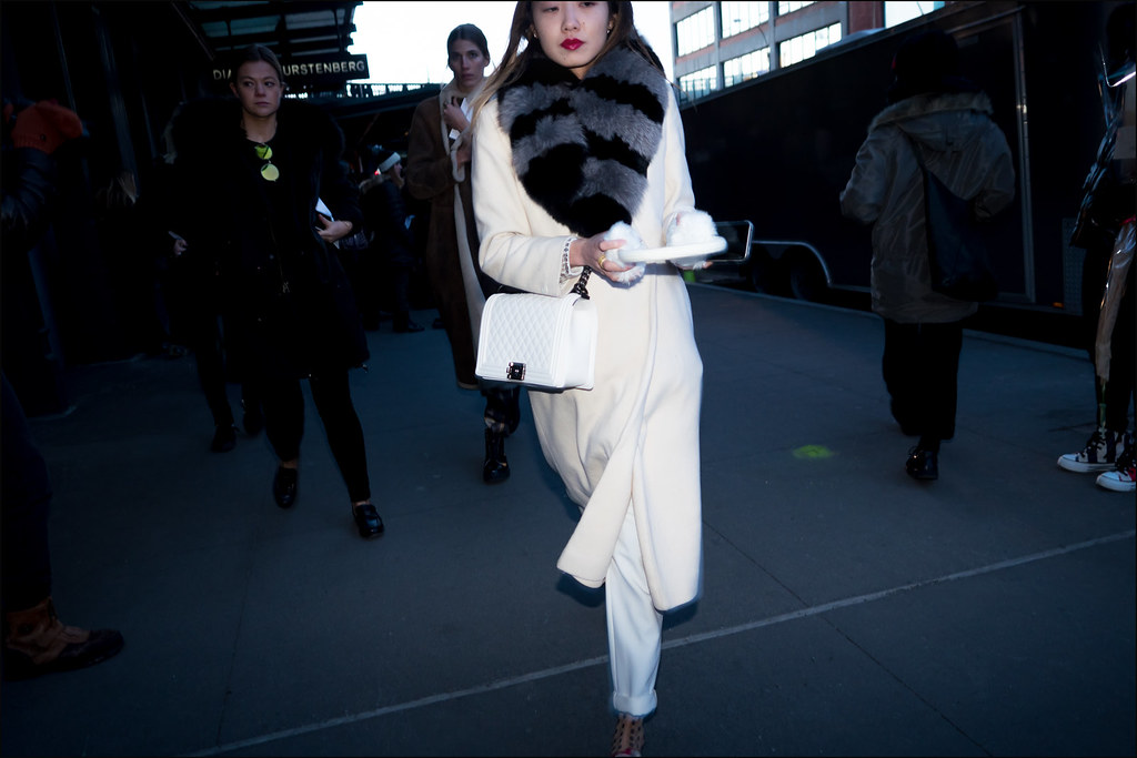 Winter White at DVF on 14th St...NYFW 2-2016