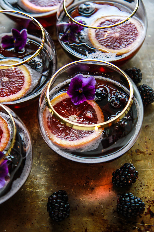 Blood Orange Blckberry Rum Punch