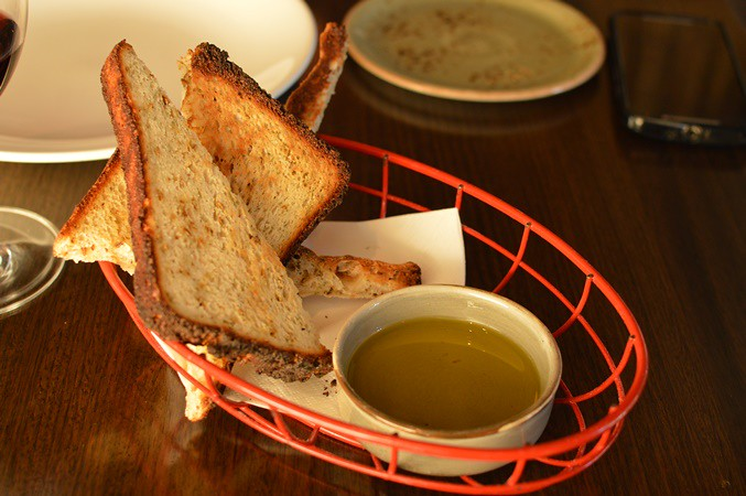Gluten-free bread and olive oil