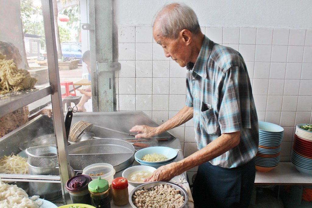Teochew Kway Teow shop run by an elderly uncle