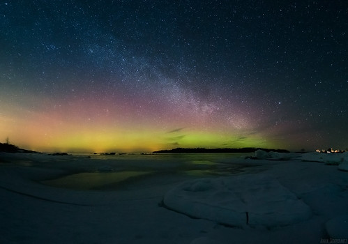 Milky way and aurora