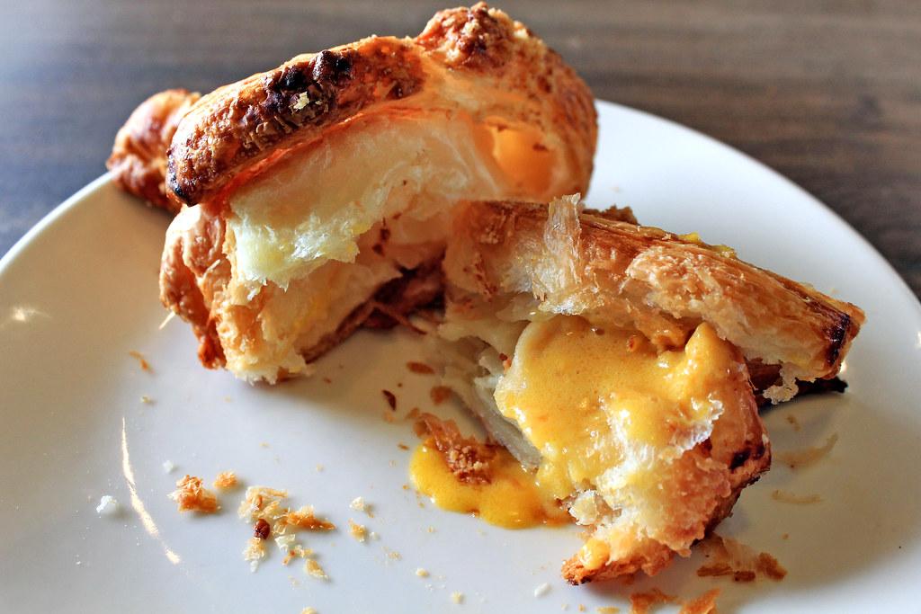 Da Paolo Gastronomia Salted Egg Croissant Open Closeup