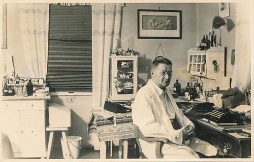 Doctor at his office desk
