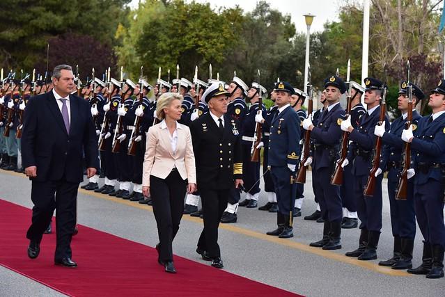 Δήλωση ΥΕΘΑ Πάνου Καμμένου μετά τη συνάντησή του με την Υπουργό Άμυνας της Γερμανίας Dr. Ursula von der Leyen στο ΥΠΕΘΑ