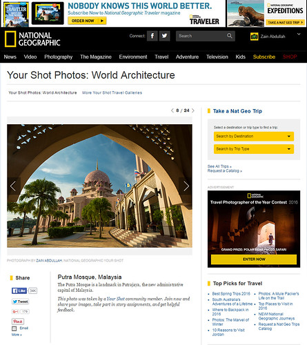 Featured in National Geographic website