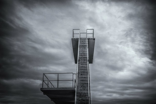 The Diving Tower. Hvalstrand bad.