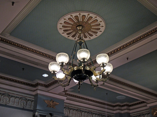 Chandelier in City Hall
