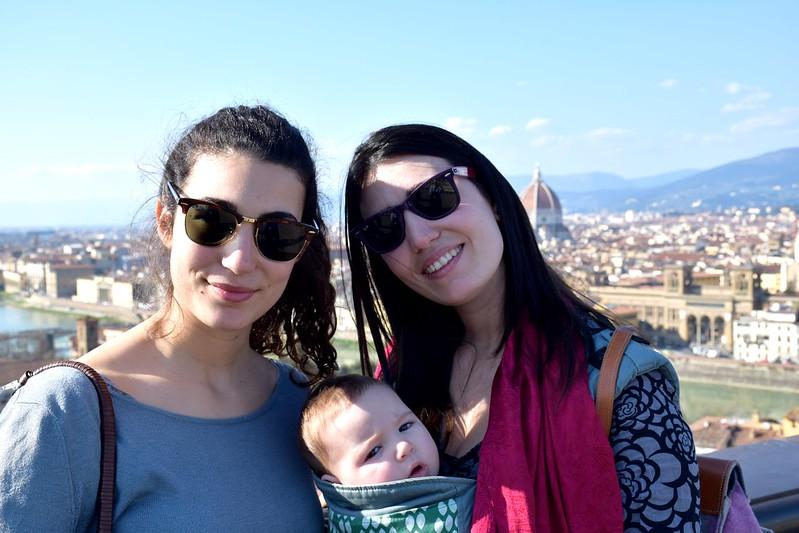 Con mi hermana en Florencia.