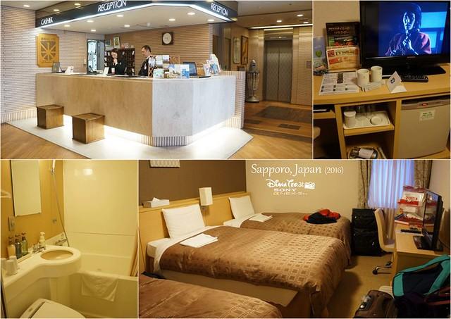 2016 Japan, Hotel Sunroute Sapporo 01