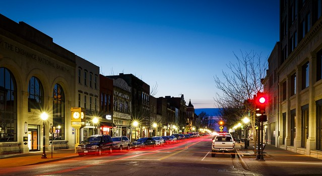 Downtown Jefferson City Blue Hour