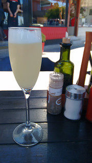 New Year's Eve Pisco Sour at Café El Barista in Puerto Varas, Chile