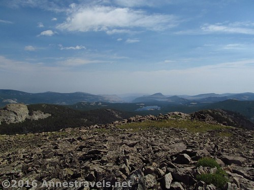 Views to the east from the top of Roaring Fork Mountain, Wind River Range, Wyoming