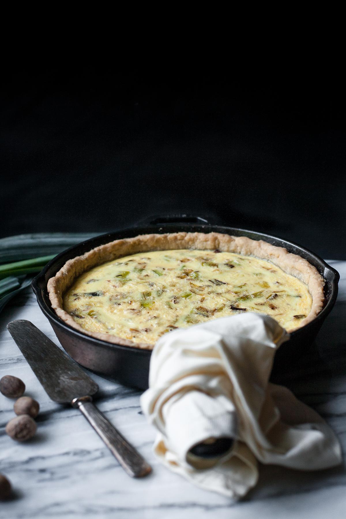 Gluten-free Quiche Lorraine with Leeks