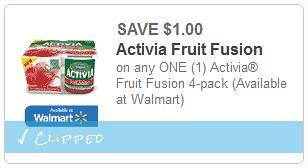 Dannon Activia Fruit Fusion Yogurt