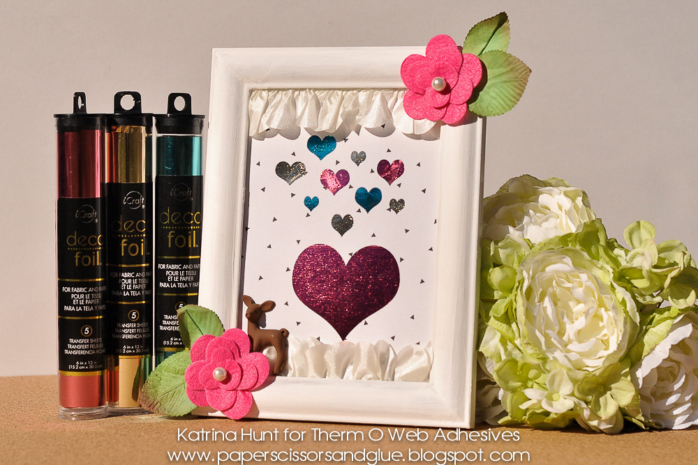 Hearts A Flutter Frame with DecoFoil