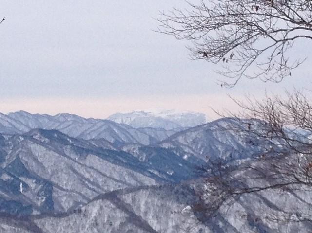 土蔵岳 稜線から伊吹山