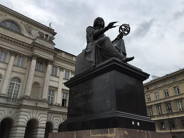 Copernicus statue in Warsaw