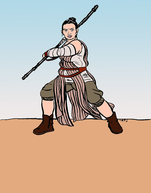 Plus-size Rey from Star Wars The Force Awakens