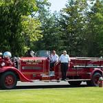 Ho-Ho-Kus Fire Dept preparing for the 2015 Memorial Day Parade.