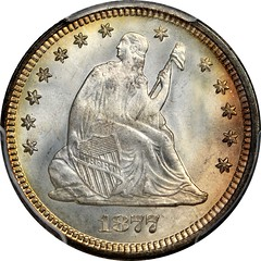 1877 Liberty Seated Quarter obverse