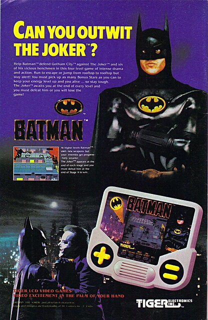 "TIGER ELCTRONICS :: ""BATMAN"" Handheld LCD VIDEO GAME; ""CAN YOU OUTWIT THE JOKER ?"" (( 1989 ))"