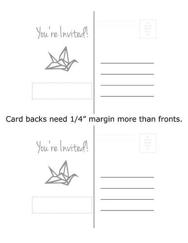 """Printable: Postcard Back (1/4"""" bleed margin)"""