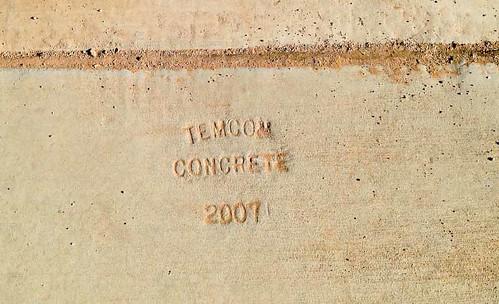 arizona usa sidewalk engraving date maricopa temcon