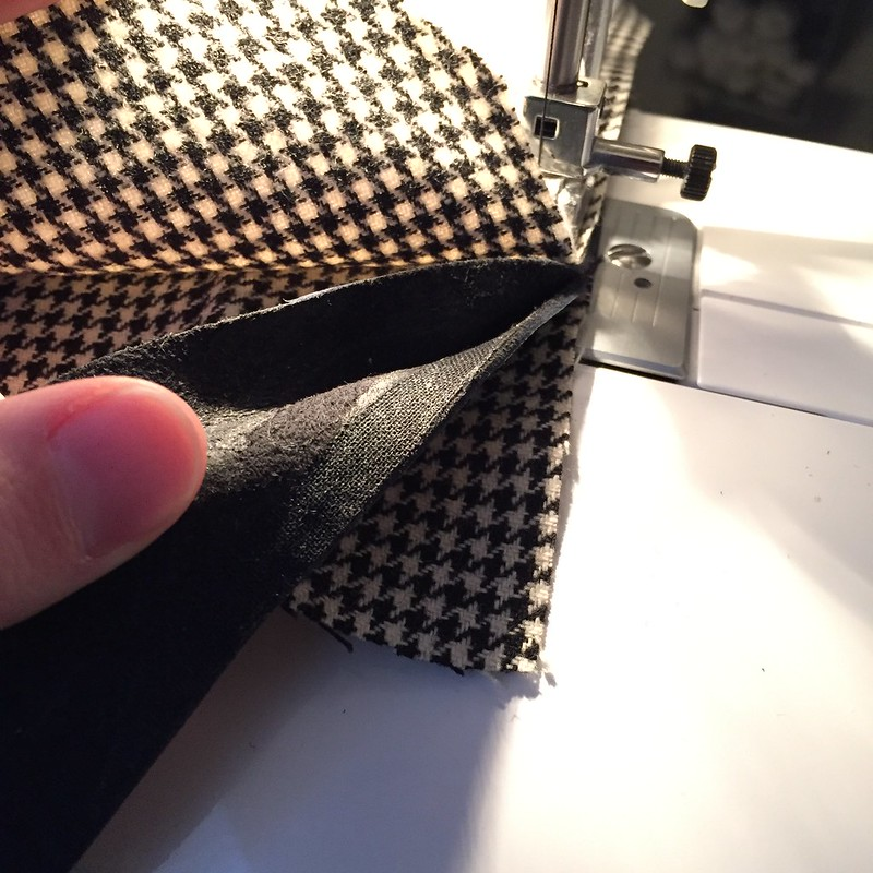 Houndstooth Messenger Bag - In Progress