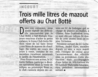 Mazout Chat Botté 2008