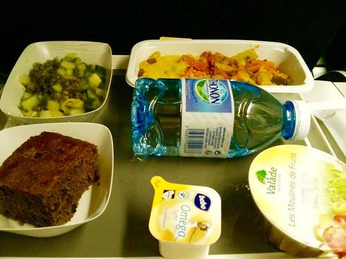 Opção vegetariana - comida voo internacional