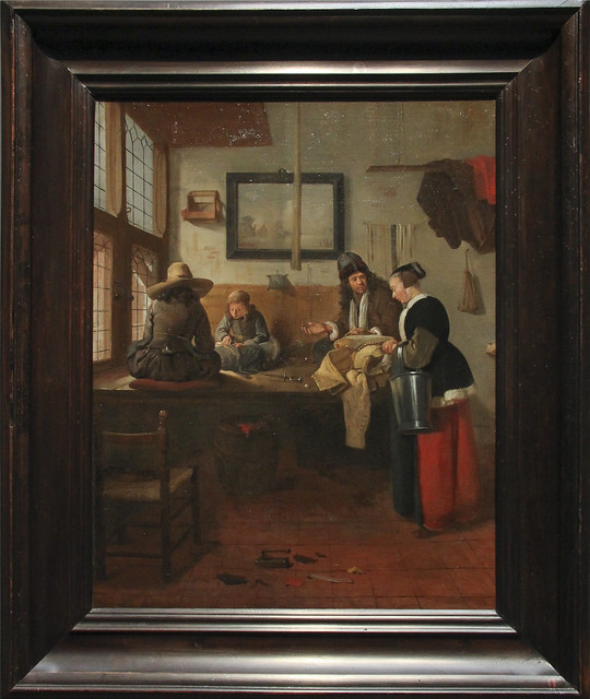 The Tailor's Workshop, Quiringh Gerritsz van Brekelenkam, 1661