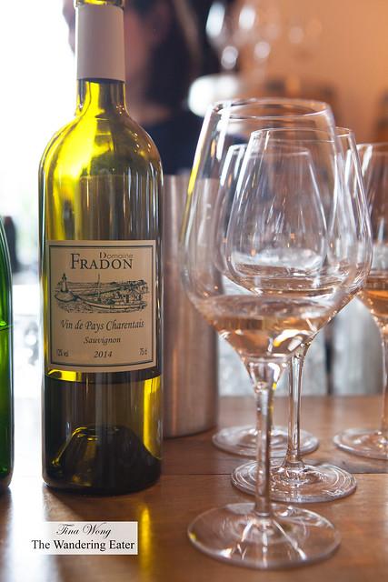 Domaine Fradon 'Vin de Pays Charentais' Sauvignon Blanc 2014