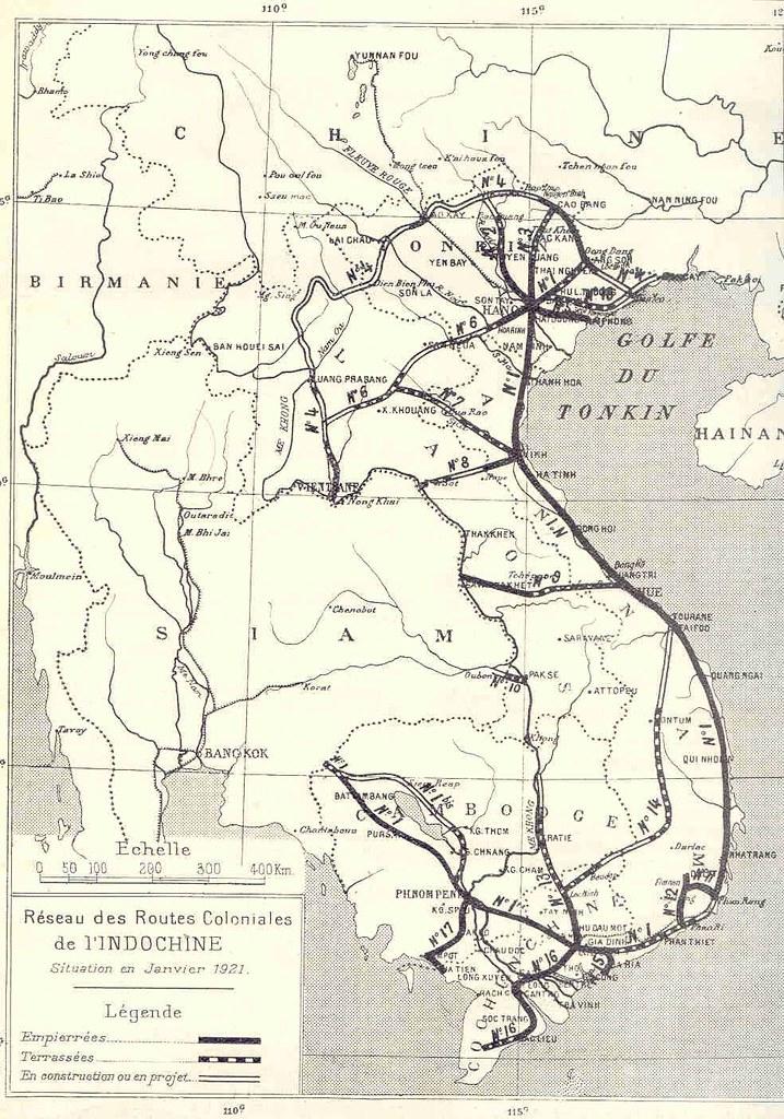 bản đo routes coloniales 1921