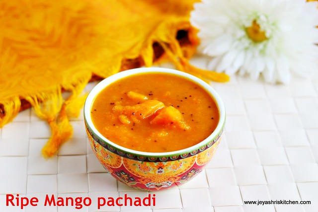 Ripe mango pachadi