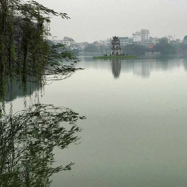 Enjoying our last day in Hanoi. The lake is oddly peaceful amidst the mayhem.