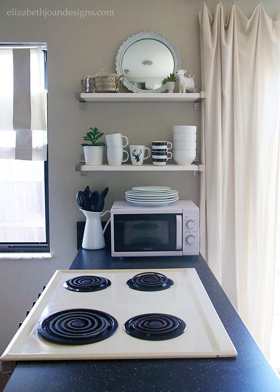Kitchen Oven Stove Range Open Shelving