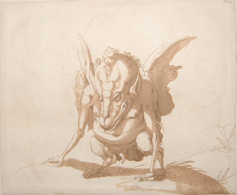 Arent van Bolten - Monster 164, from collection of 425 drawings, 1588-1633