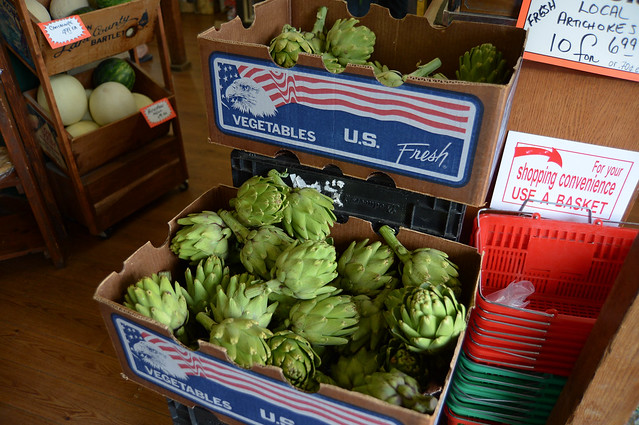artichokes 10 for $6.99 at arcangeli market